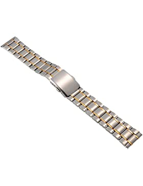 18mm Herren Damen Gold Silber Stahl Edelstahl Quarz Wrist Uhren-Armband Uhrenarmbänder Uhrband Watch Band Watch...