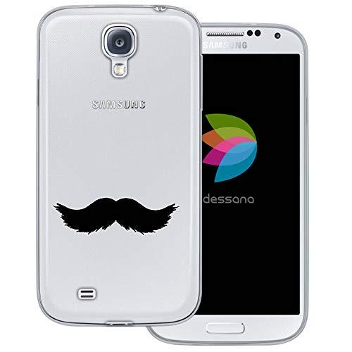 (dessana Mustache Transparente Schutzhülle Handy Case Cover Tasche für Samsung Galaxy S4 Walross Bart)