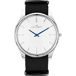 White/Black Kensington Watch by Kennett