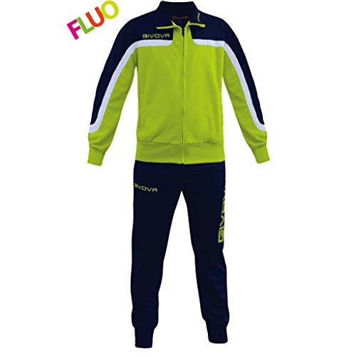 Givova, Anzug Afrika Fluo, gelb Fluo/blau, XL Preisvergleich