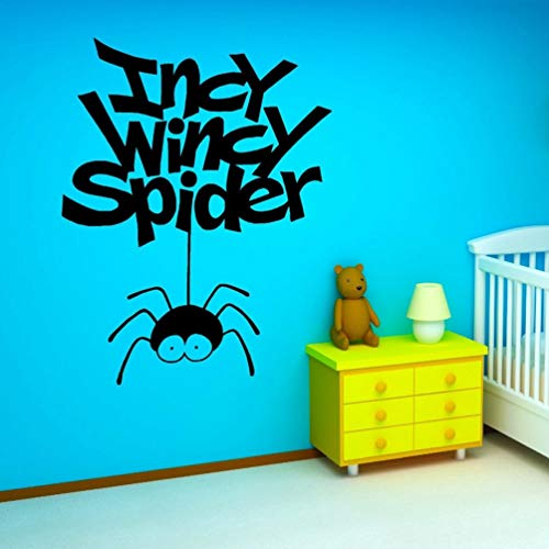 Wandaufkleber Kinderzimmer Incy Wincy Spider Letters Pattern For Boys Bedroom Nursery Children Home Background Murals for nursery kids room -