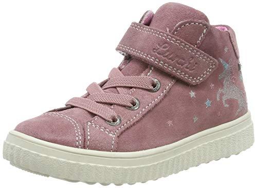 Lurchi Mädchen YUNA-TEX Hohe Sneaker, Rot (Sweet Rose 29), 34 EU (Sweet Feet-muster)