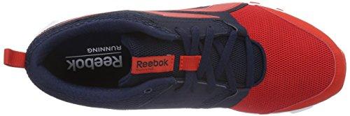 Reebok Herren Hexaffect Sport Laufschuhe Rot (Riot Red/Collegiate Navy/White)