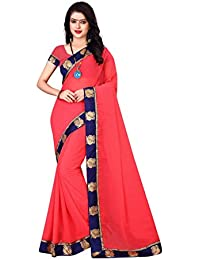 OSLC Saree For Women Peach Party Wear Half Sarees Latest Design Sarees Wedding Casual Design With Blouse Material...