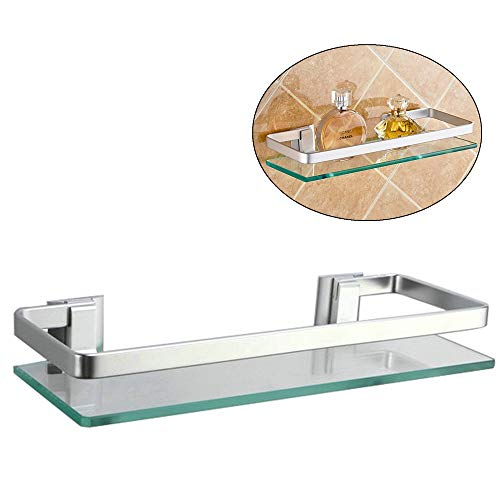 Alicemall Glas Badregal Duschablage Duschkabine Küche Wandregal
