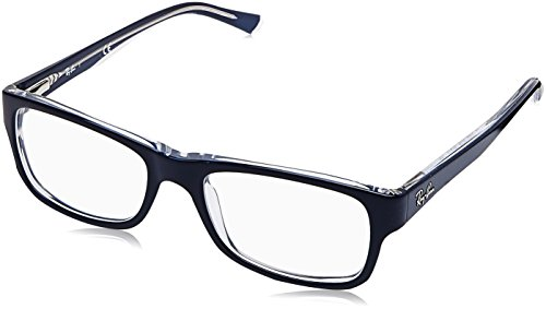 Ray-Ban Unisex-Erwachsene Brillengestell 0rx 5268 5739 50, Blau (Top Blue On Transparente)