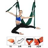 Aerial Yoga Fitness Set Yoga Hängematte Aufhänger Schlinge Anti Schwerkraft Decke Hängen Flip Schaukel,Green
