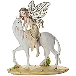 Mousehouse Gifts Figura Decorativa de Hada y Unicornio Adornos