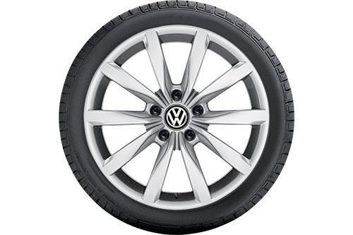 Preisvergleich Produktbild VW WKR Dijon 6, 0x17 5 / 112 / 48 Alu-Basisrad 205 / 50 R17 93V FR XL,  Continental - 5G0073227A8Z8