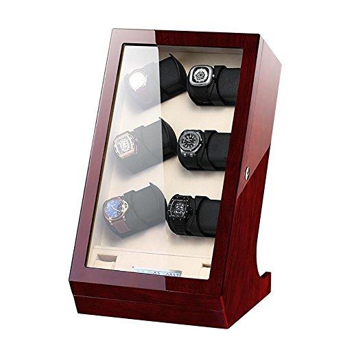 -M&Q- Watches Winder • Carica Orologi • Custodia Orologi • 12+2 Orologi Automatici • Silenzioso • con Touch Screen LCD, Red