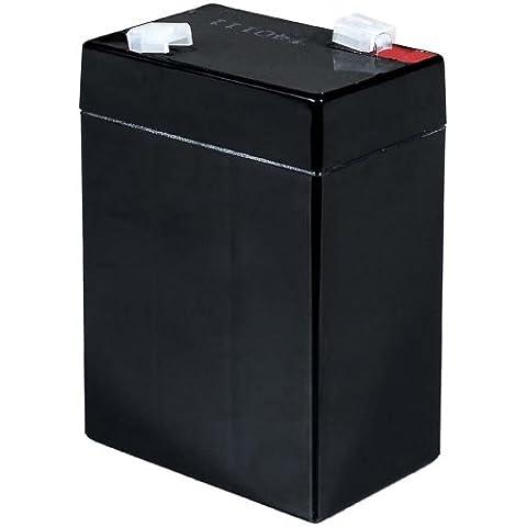 Batterie gel-plomb Powery pour voiture pour enfant Peg Perego, Feber, Injusa, Smoby, Diamec 6V 4,5Ah (substituts 4Ah 5Ah)