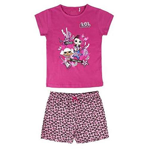 L.O.L Surprise Nachthemd oder Schlafanzug Puppen Confetti Pop für Mädchen LOL Baby Littles (5-6 Jahre, Rock Band PJ) (Mädchen Pj Größe 6)