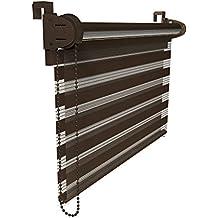 VICTORIA M Double Store enrouleur 70 x 150cm maron foncé - Klemmfix: Sans perçage ni forage - Montage simple avec clips