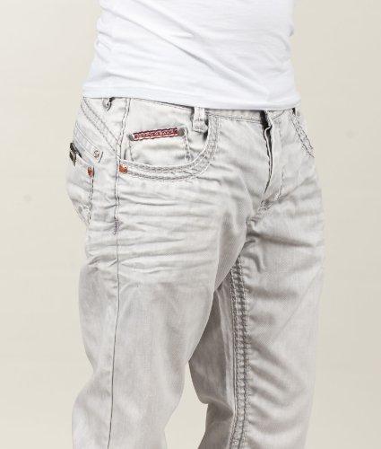 Cipo & Baxx Herren Straight Leg Jeans Gabriele Blau