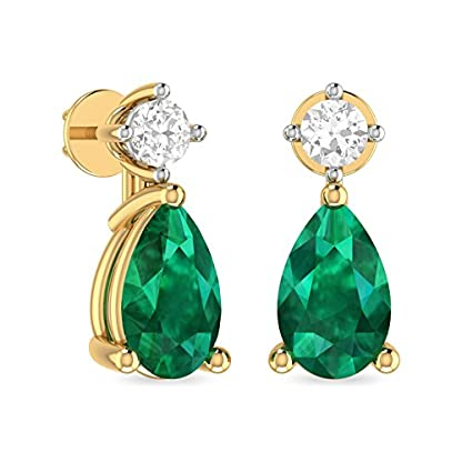 PC Jeweller The Frida 18KT Yellow Gold, Diamond and Gemstone Earring for Women