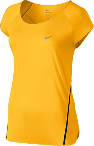 Nike Damen City Tanktop Amarillo / Negro / Plateado