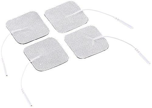 Newgen Medicals Elektro Pads: Elektroden-Pads für Reizstrom-Geräte, 2-mm-Anschluss, 5x5 cm, 4er-Set (TENS Pads)