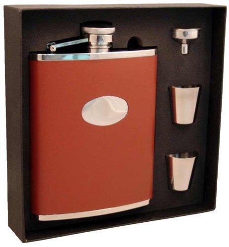 visol-vset200-1130-leather-deluxe-flask-gift-set-18-ounce-bobcat-brown-by-visol