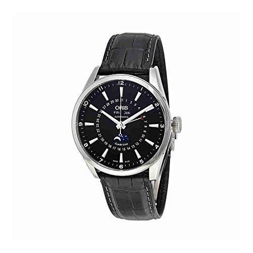 Oris Artix Complication Moonphase Automatic Steel Mens Strap Watch Calendar...