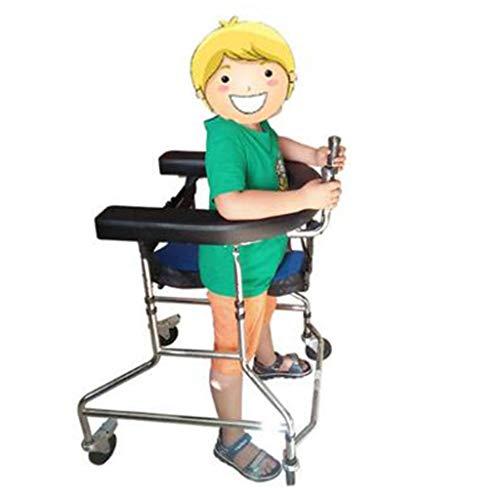 Muletas Andador Altura Ajustable Ayudas para Caminar Niños Rehabilitación Ejercicio Inhabilitado Rueda Plegable Plegable Andador Estable Seguridad Silla para Caminar Auxiliar