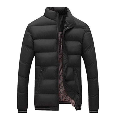 Herren Winter Warm Slim Fit Mantel, Zolimx Dicke Blase Parka Jacke (M, Schwarz)
