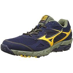 Mizuno Wave Kien G-Tx, Zapatillas de Running para Hombre, Multicolor (Peacoat/Goldfusion/Deeplichengreen), 42.5 EU