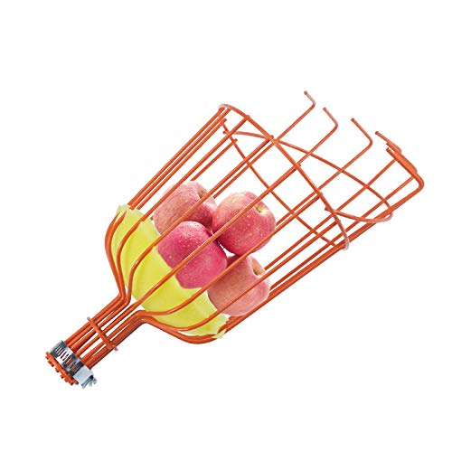 SUREH Obstpflücker, Obstpflücker, Korb mit Kissen, um Prellungen zu verhindern, Obst Picking Korb, Zubehör für Obst, Zitronen, Äpfel, Guaven, Stange Nicht im Lieferumfang enthalten