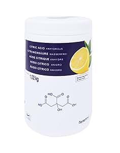 Zitronensäure 1,02 kg, reine Lebensmittelqualität. NortemBio. CE - Produkt