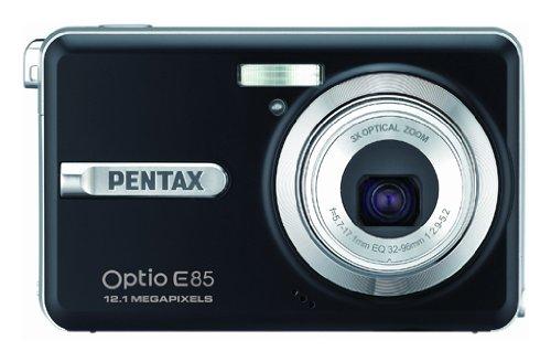 Pentax Optio E85 Digitalkamera (12 Megapixel, 3-fach opt. Zoom, 6,9 cm (2,7 Zoll) Display) schwarz Zoom, Pentax Optio
