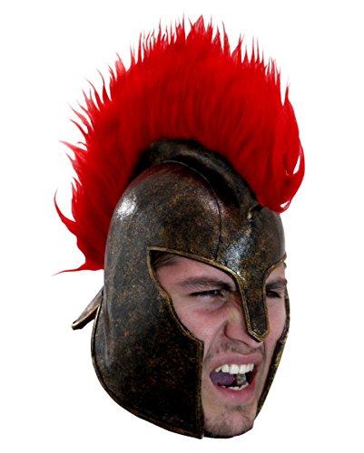 Trojaner Helm aus Latex für Fasching & (Kostüm Griechischen Helm Krieger)
