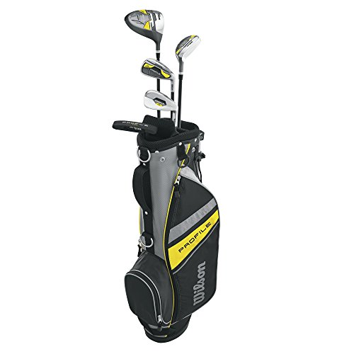 Wilson Profile Junior Golf-Set mit Golftasche, Jungen, Profile, Yellow (Ages 8-11), Medium