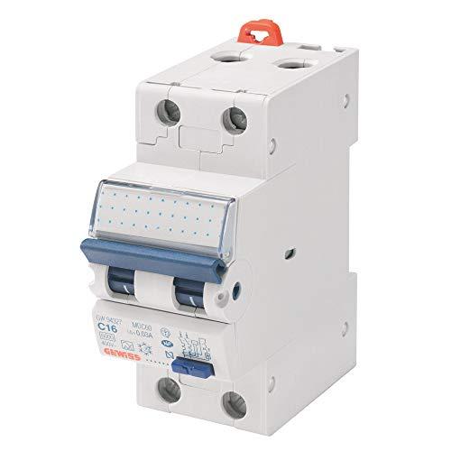 Gewiss GW94007-Zubehör Elektromesser (230V, 16A, 6000A, Blau, Weiß)