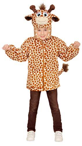 (Karneval-Klamotten Giraffe Kostüm Kinder und Baby Komplettkostüm Jacke mit Kapuze und Maske Größe 3-5 Jahre)