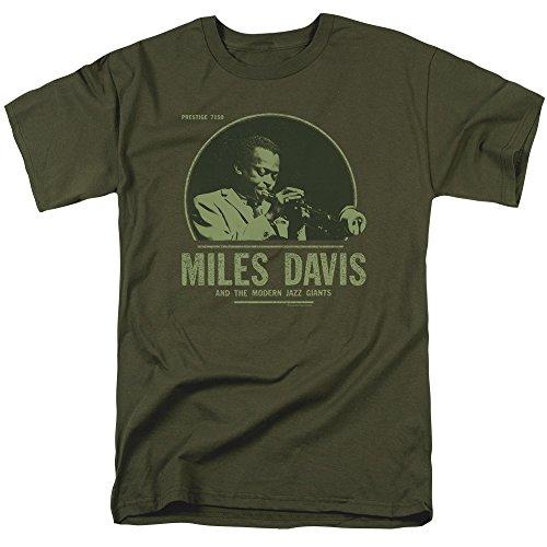 Trevco Herren Concord Music The Green Miles T-Shirt, Herren, Military Green, 3X-Large