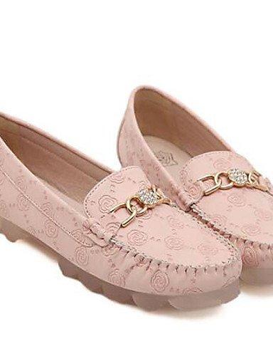 ZQ Damenschuhe - Ballerinas - B¨¹ro / L?ssig / Party & Festivit?t - Kunststoff / T¨¹ll - Flacher Absatz - Ballerina / Boot - Rosa pink-us8.5 / eu39 / uk6.5 / cn40