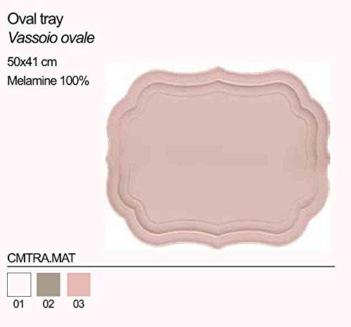 Vassoio ovale in acrilico BACI MILANO CMTRA.MAT vari colori - Ovale Mat
