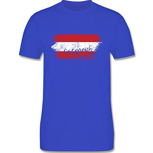 Länder - Österreich Vintage - 3XL - Royalblau - L190 - Herren T-Shirt Rundhals