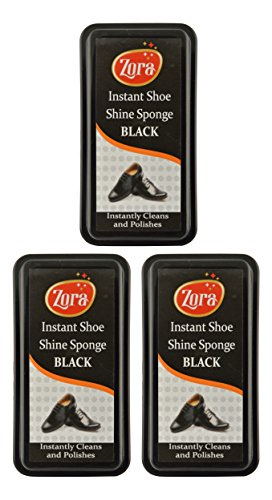 Zora Instant Shoe Shiner -Black (Pack of 3)