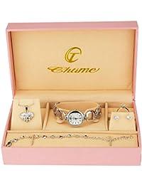 0b987e20018c Caja de Regalo Reloj Mujer - Juegos de Joyas- Collar-Anillo- Pendientes -