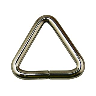 Amanaote Metal Silvery 1 Inches Inside Length Equilateral Triangle Buckle Connector For Belt Buckles Handbag Accessories(Pack Of 16)