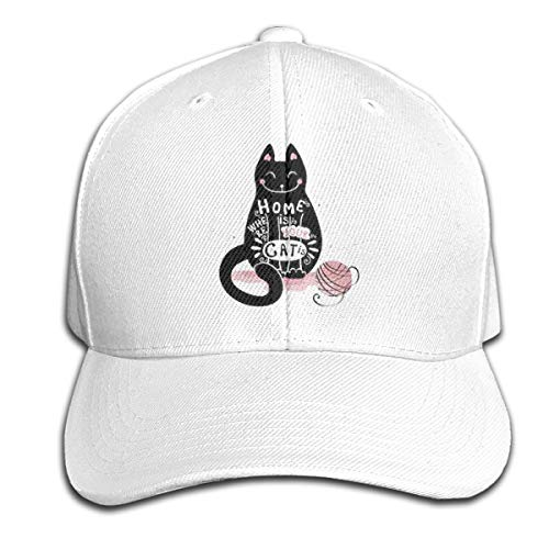 Osmykqe Home is Your Cat Unisex Sommer Sonnenhut einstellbar lässig Golf Tennis Caps - Ranger-golf-hut