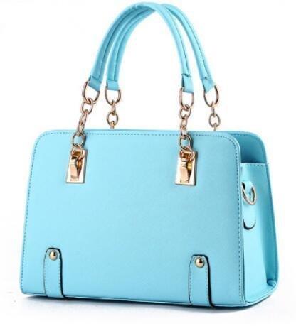 HQYSS Borse donna Estate alla moda modelli Lady catena tracolla Messenger Handbag , pink light blue