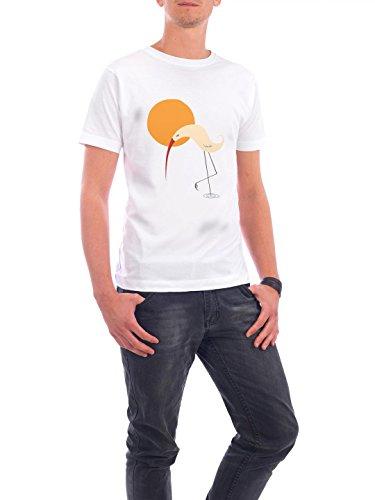 """Design T-Shirt Männer Continental Cotton """"Bird and Sun"""" - stylisches Shirt Tiere von Volkan Dalyan Weiß"""