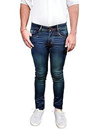 Silver 92 Men's Lycra Jeans Formal Pant-Navy Blue