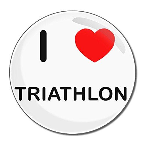 I Love Triathlon - Kompakter Spiegel mit 55 mm Durchmesser