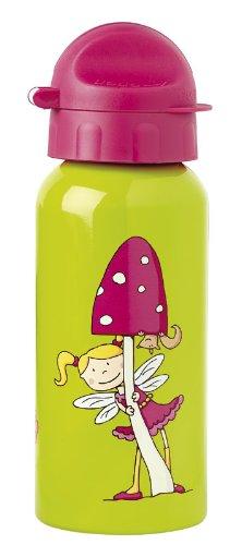 Sigikid Mädchen, Trinkflasche mit Drehverschluss 0,4 l, Florentine, Grasgrün/Pink, 24445