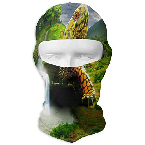 keiwiornb Balaclava Windproof Ski Mask-Balaclava Waterfall And Tree On The Back Of The Turtle Full Face Masks Ski Mask Motorcycle Hood For Cycling Sports Mountaineering (Cover Personal Weather)