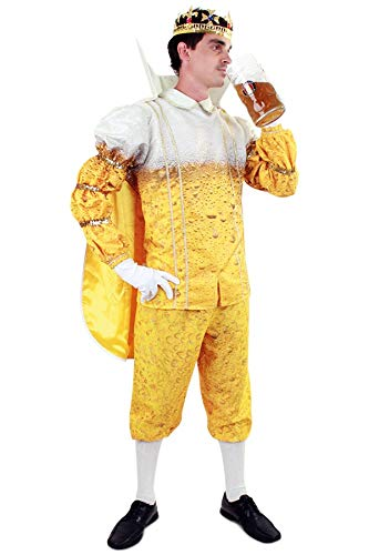 shoperama Bier Prinz Karneval Herren Kostüm König Karnevalsprinz Junggesellenabschied JGA lustig Pils, Größe:52