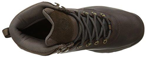 Timberland Chaussure à Lacets Blancs Mi-Hauts Pour Hommes Dark Brown