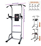 Xn8 Sports Power Tower Dip Station Chin Up Bar Adjustable VKR Station Abs